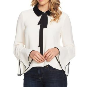 CeCe by Cynthia Steffe Collar Neck Tie Blouse